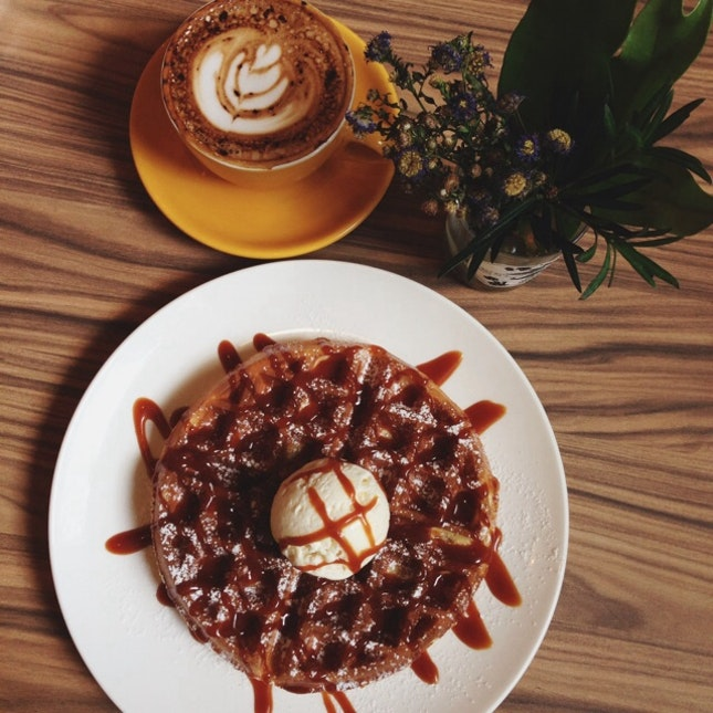 For Salted Caramel Waffles