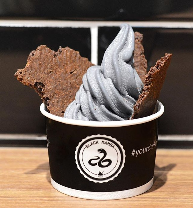 For Charcoal Frozen Yoghurt in Toa Payoh