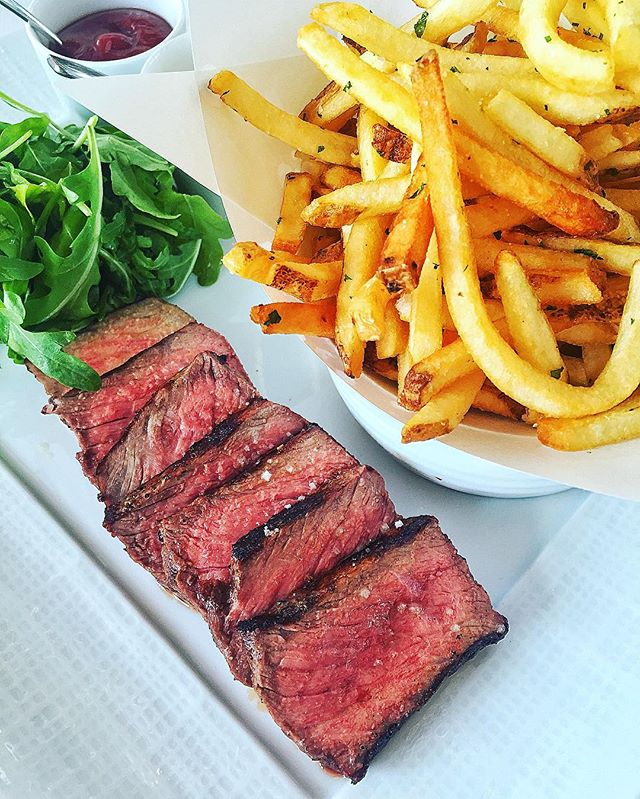 For Steak Frites and Inspiring Views at Lunch