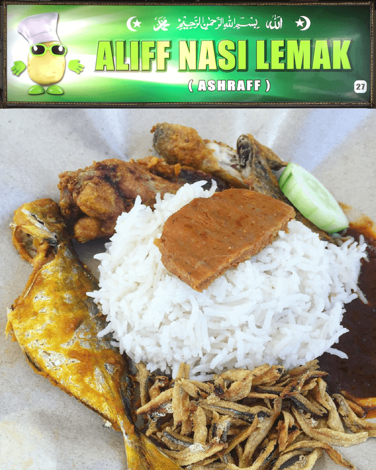 For Fresh and Tasty Nasi Lemak