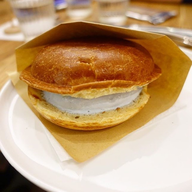 For Blue Milk Ice Cream in a Bun