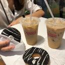 For 1-for-1 Donut & Beverage (save ~$6.20)
