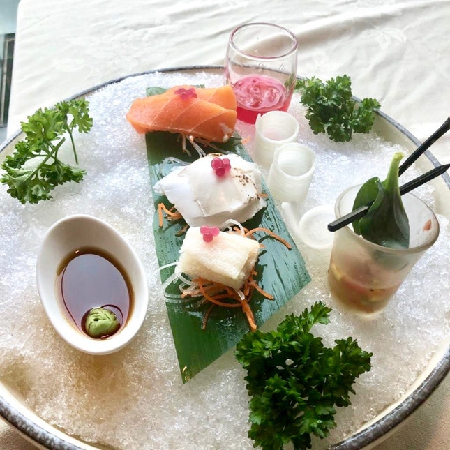 For Exquisitely-plated Vegetarian Sashimi