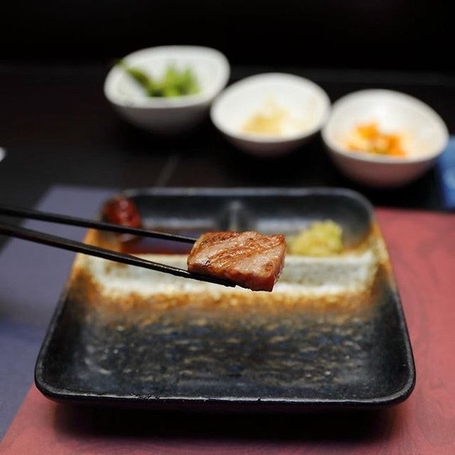For a Beef-Centric Omasake Experience in Town