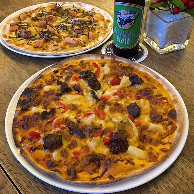 For 1-for-1 Pizza & Drink (save ~$32)