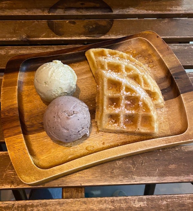 For Single Scoop Waffle & Drink (Afternoon) (save ~$15)