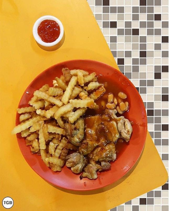 [Tanglin Halt Western Food] Uncle, chicken chop add fries!