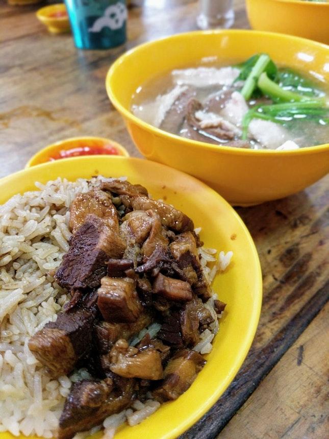 Lu Rou Fan And Pig's Organ Soup