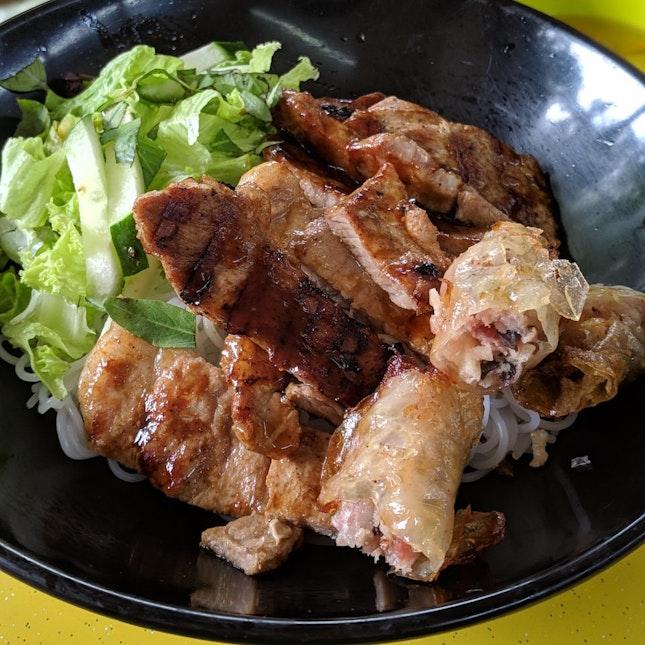 Vietnamese Grilled Pork Dry Noodles