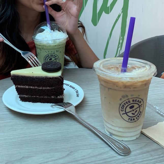 Chai Latte, Matcha Latte and Oreo Cake