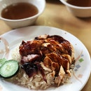 #golocal Roasted Chicken and Char Siew rice .