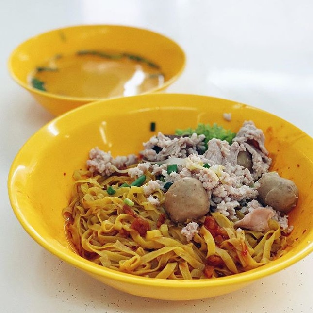 #golocal today with not so satisfying Minced Meat Mee Pok .
