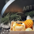 @arteasg - Singapore's very own soufflé and tea cafe • [ Mango Soufflé ] soft fluffy soufflé paired with sweet mango complements each other quite well • [ Signature Fruit Tea ] I requested for mine without watermelon and the staff readily agreed.