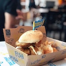 Dory Fish sandwich topped with Onion Rings @bigfishsmallfishsg .