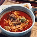 Back to @hantol_sg this time for their Fried Chicken Spicy Ramyeon .
