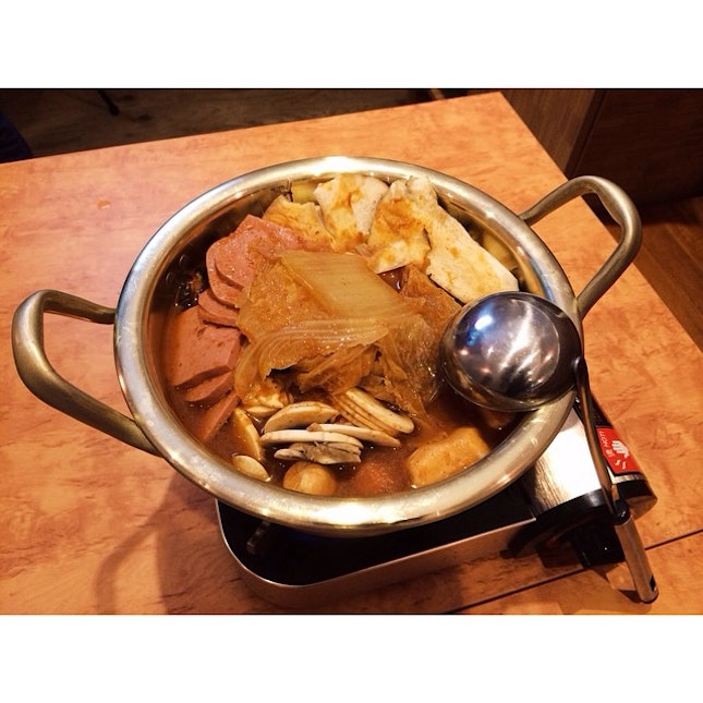 Budae-jjigae (Army Stew) for a weekend dinner!