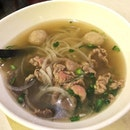 Pho Duc Biet  Comes with beef slices, brisket and beef balls, the pho was slurpy and goes well with the soup, that taste enriched with the flavour of the beef.