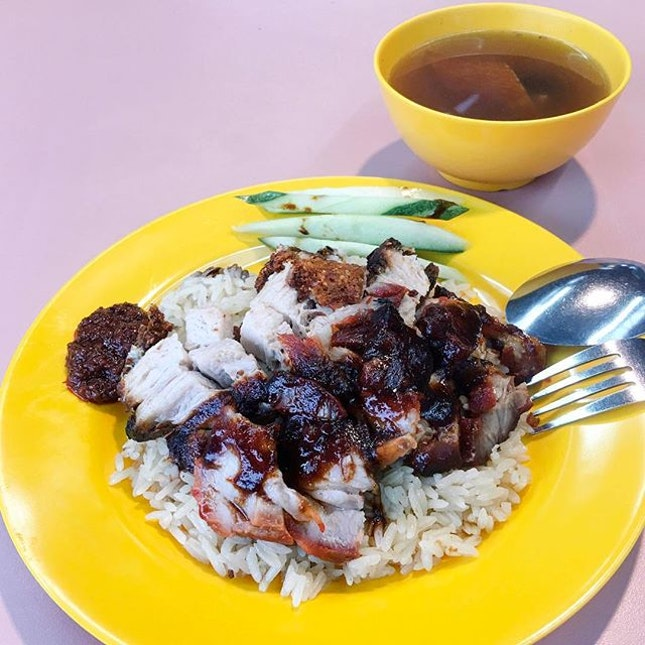 Char Siew Roasted Pork Rice from Not Authentic Hainanese Chicken Rice