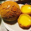 Pineapple bun aka 'Bo Lo Bao' & Eggtarts aka 'Dan Ta'.