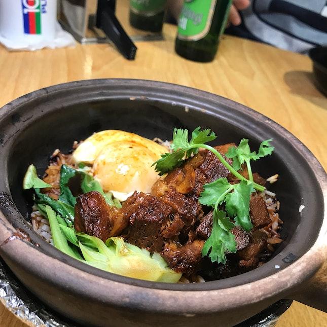 Lorbak & Onsen Egg Claypot Rice ($7)