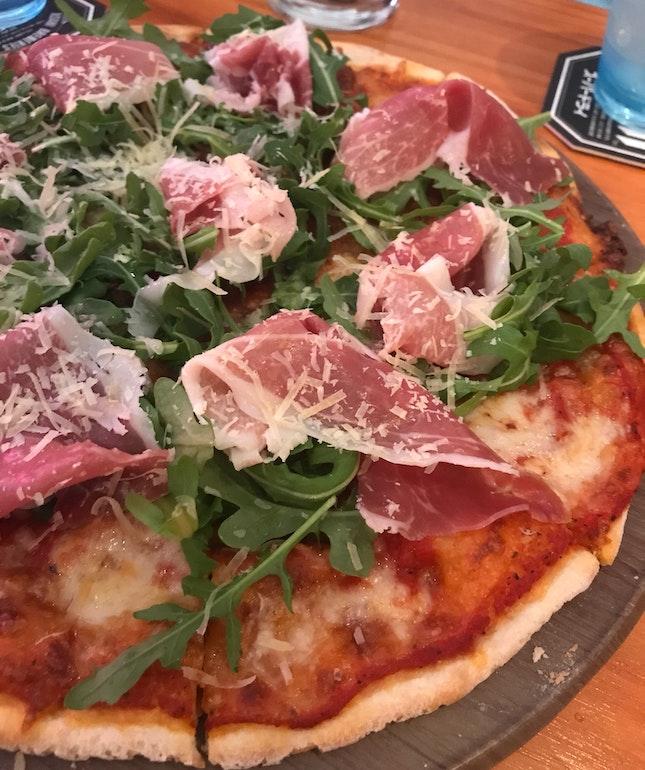 Parma Ham Pizza ($22)