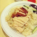 Unusual preference for roast chicken rice today.
