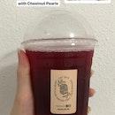 Hibiscus Hawthorn Lemonade (w/ Chestnut Pearls) - Less Sweet