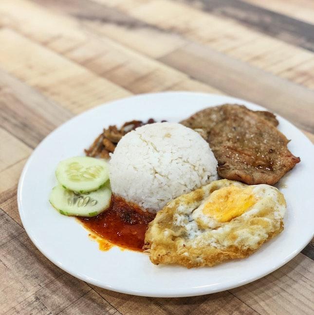 Grilled Pork Chop Nasi Lemak