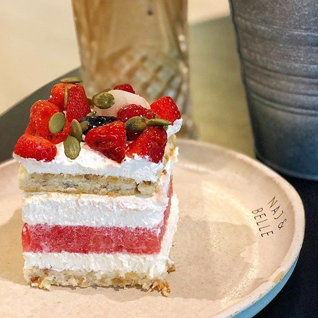 A refreshing Watermelon cake is a perfect dessert on a hot weather!