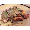 Pork Steak 🐷 🍽 Grilled pork collar served with roasted potatoes, mushrooms and sauce poivrade.