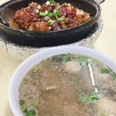 #Claypot #Rice with Pig Stomach #Soup for dinner last night with the hubby.