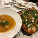 Roma style pizza & Lobster Ravioli