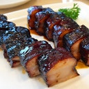 BBQ Pork Belly roasted with Honey Sauce.