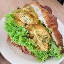 Fish Cake Laksa Sandwich