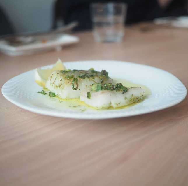 Oven-baked Greenland Halibut ($9.5)