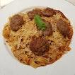 Tagliatelle with Italian Sausage ($12.80)