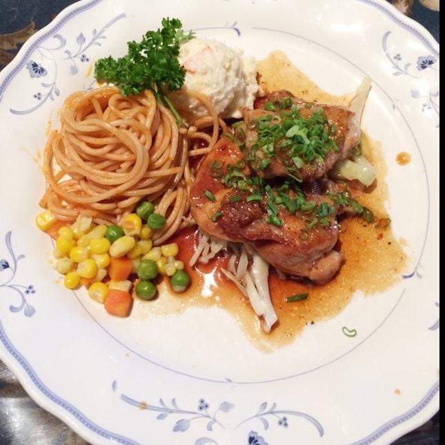 Teriyaki Chicken Spaghetti