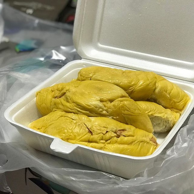 Very happy with our durian today.
