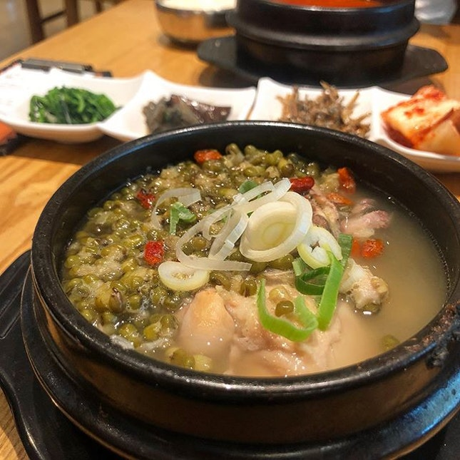 Prefer the ginseng chicken with Perilla seed than mung bean...