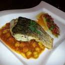 Pan fried Sea Bass with spiced chickpea & tomato ragout #takepicha #dinewithannna #food #foodie #foodporn #foodspotting #food #foodlover #livetoeat #instadaily #instagood #instago #instafood #instalike #instamood #instalove #ig #igers #igmy #igkl #instamalaysia #love #like #nofilter