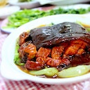 Traditional Hangzhou favourite. The greasy fatty succulent Dongpo Rou! It's Chinese wine braised pork of half fats half lean meat, named after poet Su Dongpo.