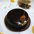 Dessert at Joel Robuchon, where you sit around in square facing an open kitchen