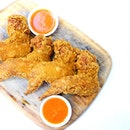 Crispy wings with the 'local chicken rice' type of of chili sauce always sound good.