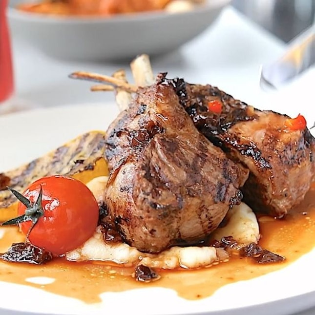 Rack of Lamb from the newly launched Arbora @onefabergroup  A premium item in the menu, these charcoal-grilled lamb chops are sourced from Australia.