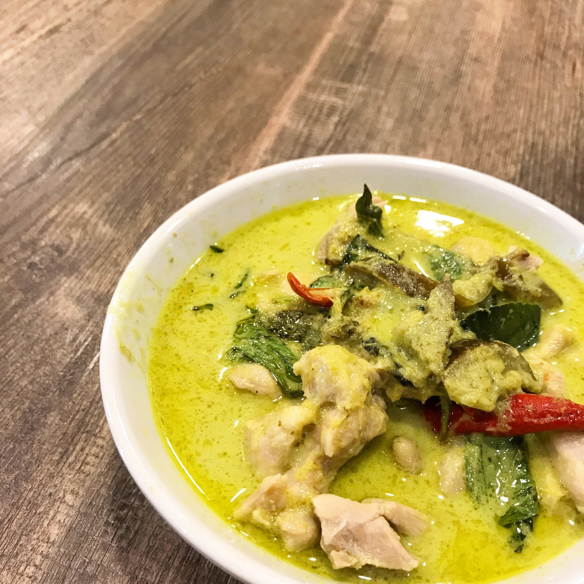 Green Curry + Rice ($8)