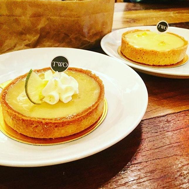 Front: Yuzu Lemon Tart  Rear: Key Lime Tart My aunts and Godma loves sour stuff...