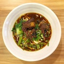 Really good braised pork la Mian at the food court where I now trim my hair.