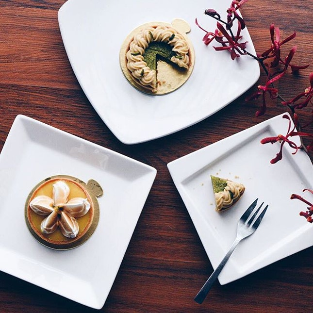 These #pistachio and #passionfruit #tarts are so good!