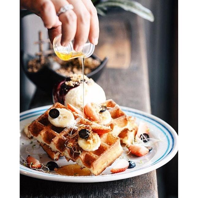 The B&B #Waffle at #SelfishGene.