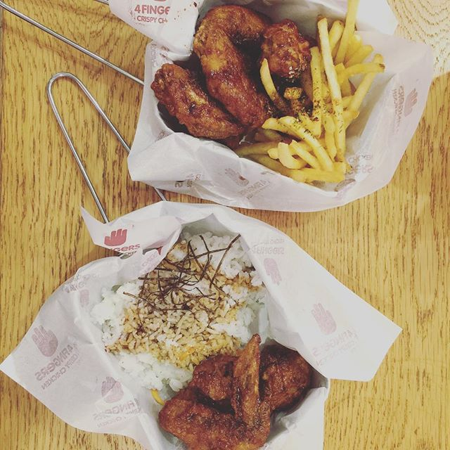 When you miss korea so much 😍  6pcs Chicken with Seaweed Fries - S$9.45 (S$10.45 for Set) Rice Set with3pcs Chicken - S$8.45 (S$9.45 for set) 📍: 4 Fingers